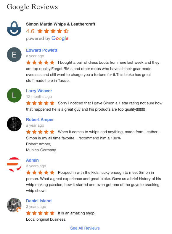 Simon Martin Google Reviews